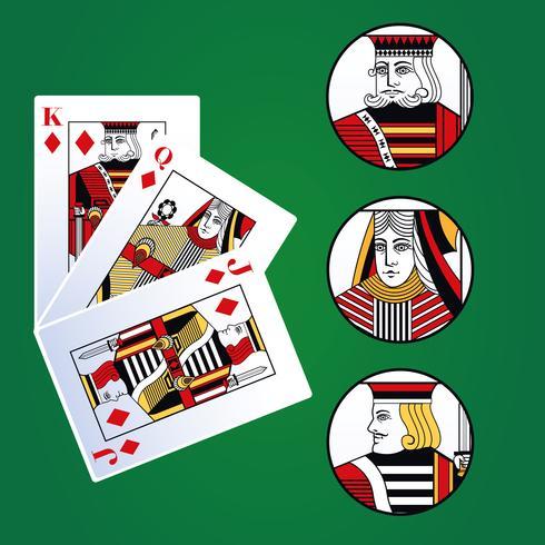 Carte per il tempo libero del poker vettore