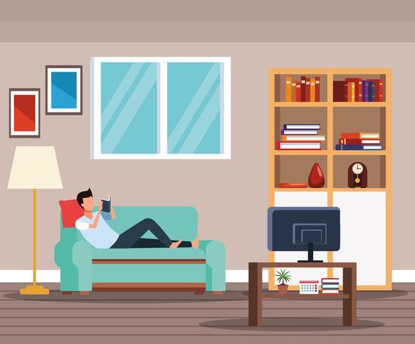 attività e tempo libero a casa vettore