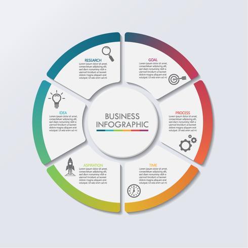 Visualizzazione dei dati aziendali. vettore