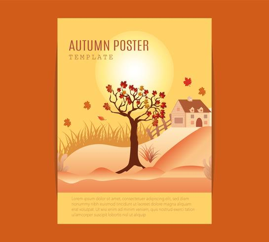 manifesto del festival di metà autunno. vettore