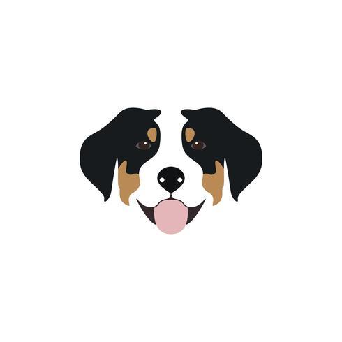 Illustrazione vettoriale Swiss Mountain Dog