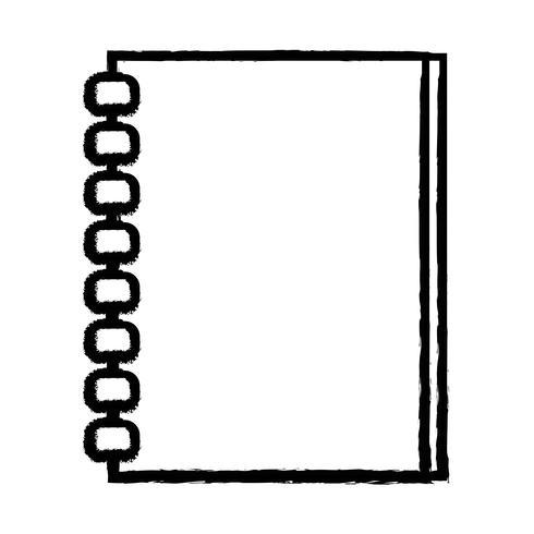 figura quaderno carte oggetto design da scrivere vettore