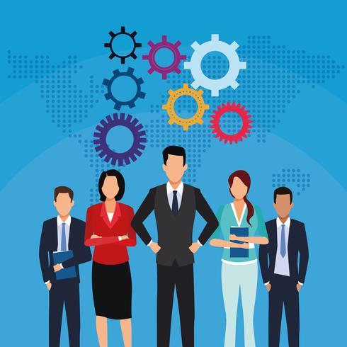 Concetto di lavoro di squadra di affari vettore