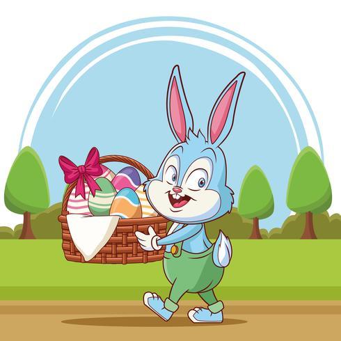 Buona Pasqua cartoon vettore