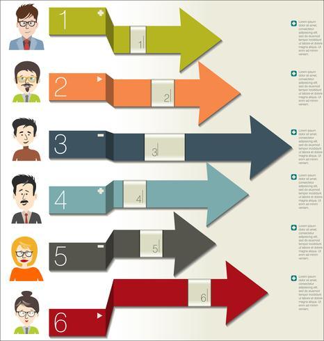 Infographic di progettazione moderna di concetto di affari di brainstorming vettore
