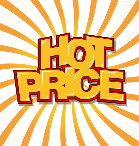 Sfondo di prezzi caldi vettore