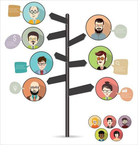 concetto di business design moderno infografica vettore