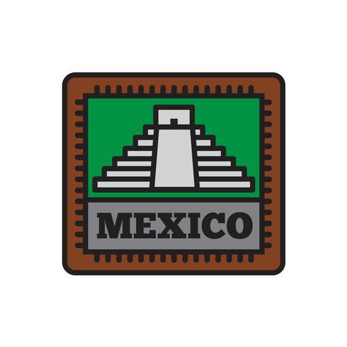 Collezioni di badge per paese, Messico Simbolo del grande paese vettore