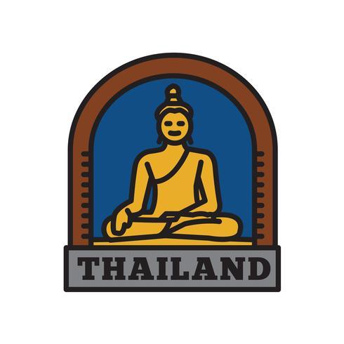 Collezioni di badge per paese, simbolo tailandese del grande paese vettore