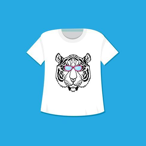 linea arte tigre vettore