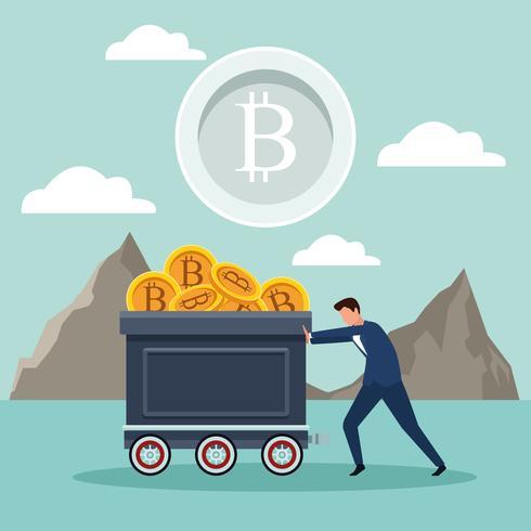 bitcoin di mining digitale vettore