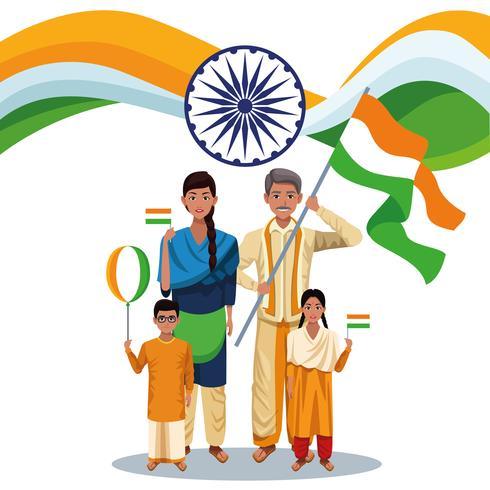 Carta di festa dell'indipendenza dell'India vettore