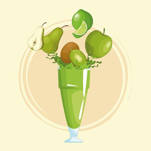 frullati con frutta vettore