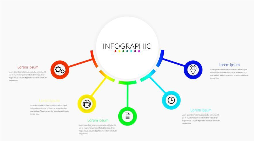 Cronologie infografiche aziendali vettore
