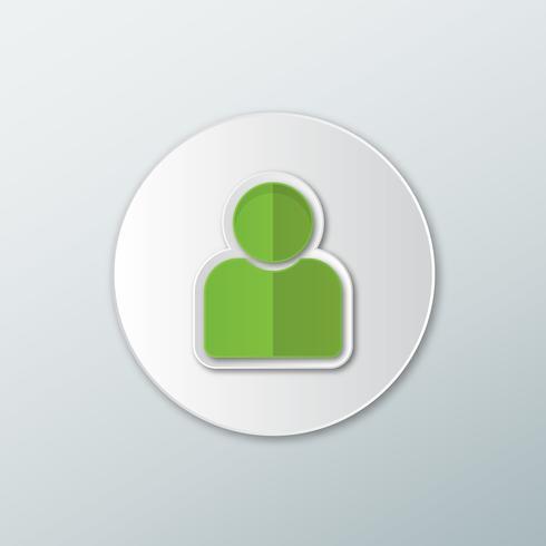 Icona di avatar verde vettore