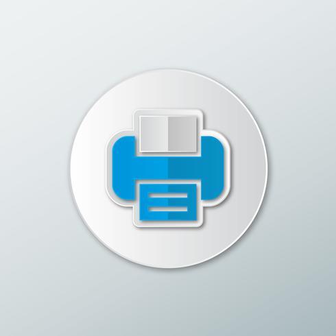 Icona stampante blu vettore