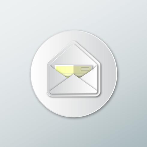 Icona lettere bianche vettore