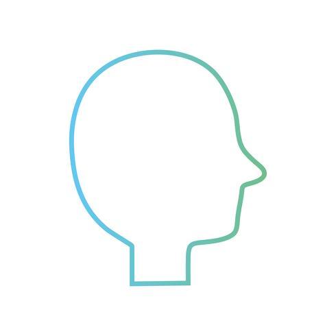 linea persona silhouette immagine disegno dell'immagine vettore