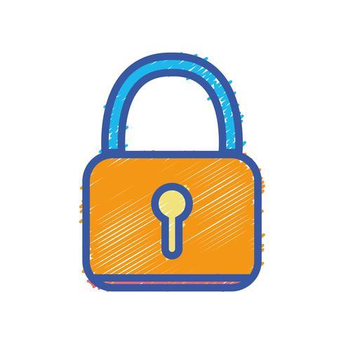 lucchetto oggetto di protezione di sicurezza alle informazioni sulla privacy vettore