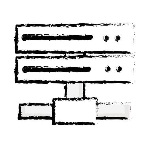 figura rete dati con trunk uplink vettore
