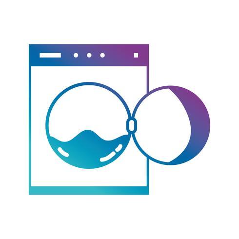 riparazione di servizio di tubo della lavatrice dell'impianto idraulico della siluetta vettore