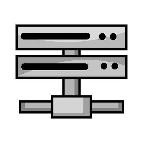 rete di dati in scala di grigi swich uplink trunk vettore