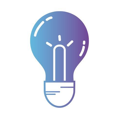 linea idea lampadina per intelligente e creativo vettore