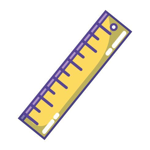 progettazione del righello per l'educazione degli strumenti scolastici vettore