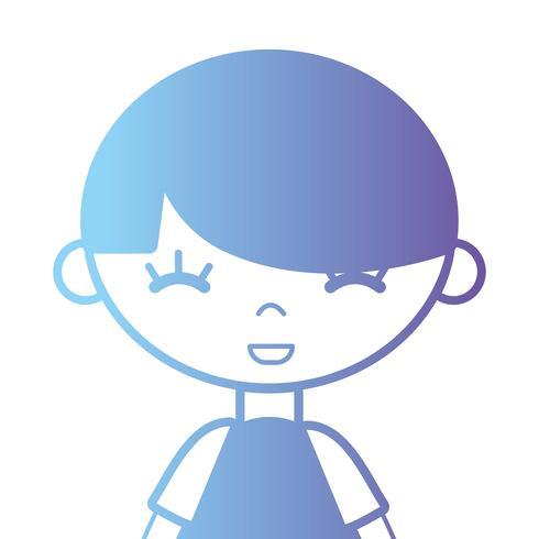 ragazzo silhouette con t-shirt e design acconciatura vettore