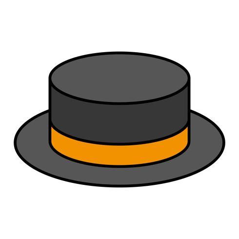 icona accessorio cappello vettore