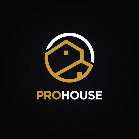 Logo immobiliare vettore