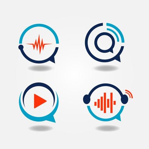 Logo multimediale Bubble Speech vettore