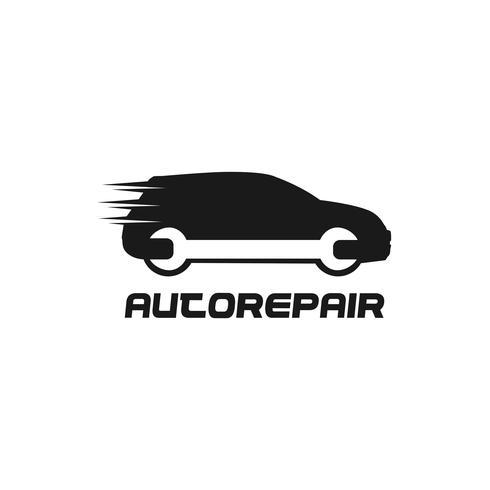 Logo di riparazione automobilistica vettore