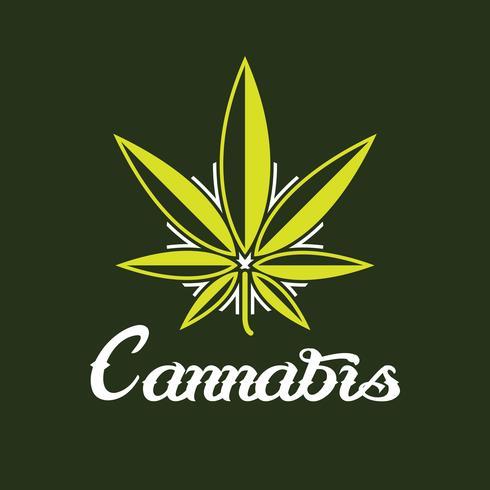 Logo di cannabis creativa vettore
