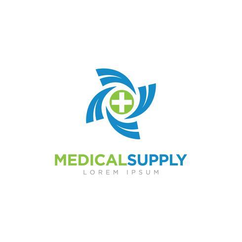 Logo di forniture mediche vettore