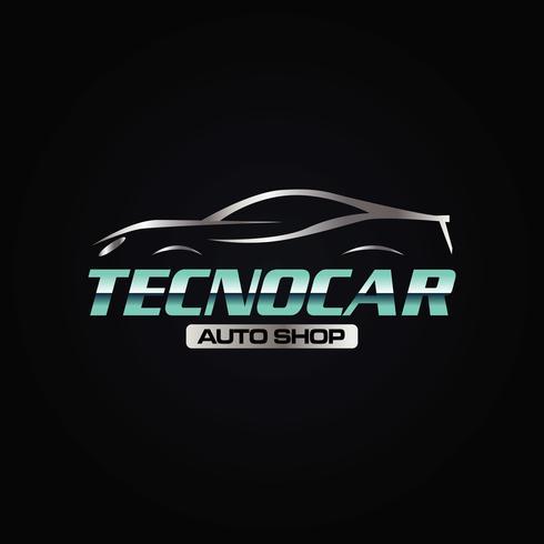 logo auto techno vettore