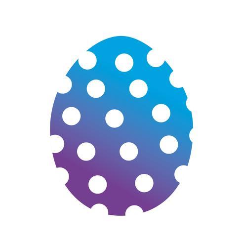 linea uova di Pasqua alla celebrazione tradizionale vettore