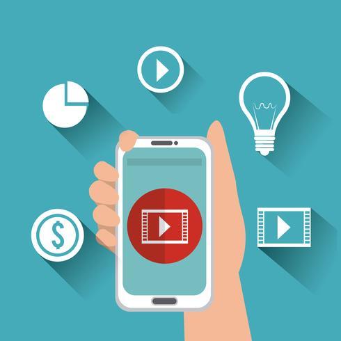 Marketing mobile vettore
