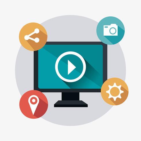 Strategie di marketing digitale e sociale vettore