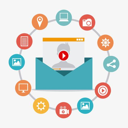 Marketing via email vettore