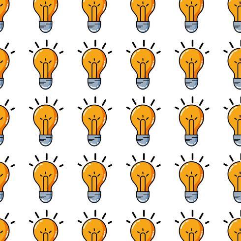 idea della lampadina intelligente e creativa vettore