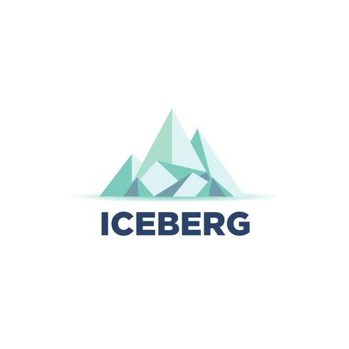 logo cool iceberg vettore