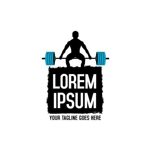 Logo Fitness Pro vettore
