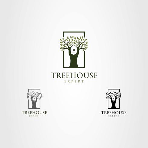 Logo della casa sull'albero vettore