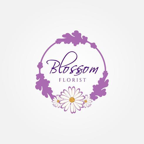 Logo del fiorista vettore