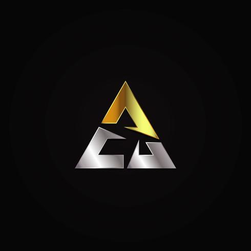 Logo triangolo di lusso vettore