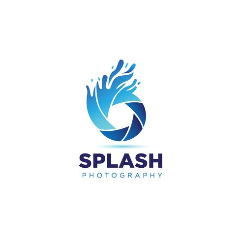 logo splash splash vettore
