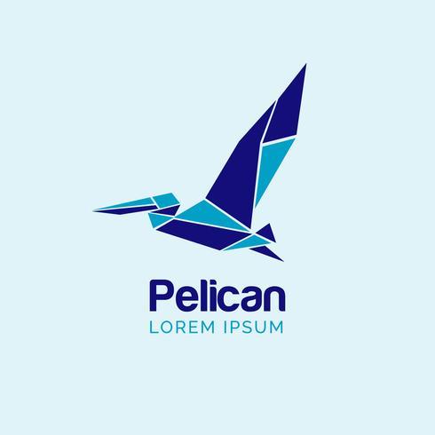 Logo del pellicano vettore