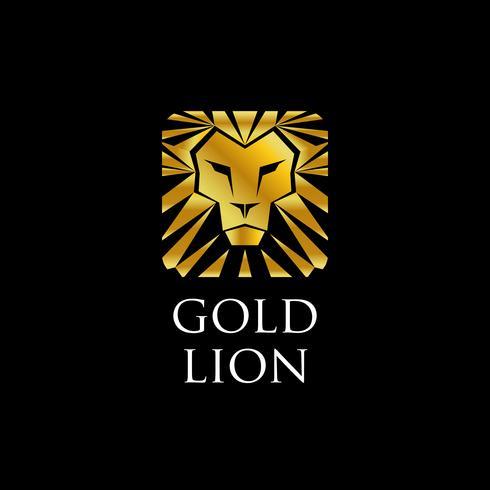 Logo Leone d'oro vettore