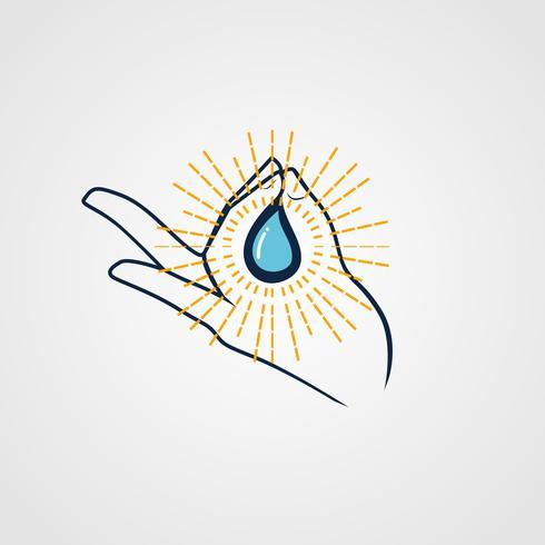 Logo di acqua santa vettore